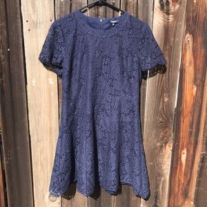 Madewell Fit and Flare Floral Lace Dress